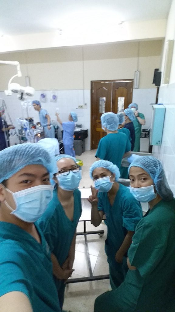 Visit to the corrective surgery room.